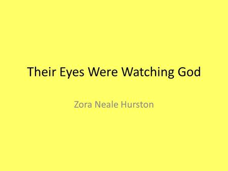their eyes were watching god theme analysis