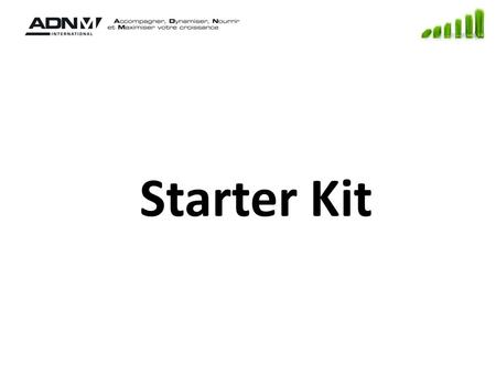 Starter Kit. Starter kit Production : Cut operations receiving ECN (Eng. Change Notice) Auto copy to prod orders details Shop floor reporting Generic.