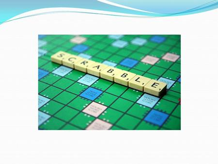 ORIGIN Designed by Alfred Mosher Butts, an out-of- work architect from New York Unanimously rejected by established game manufacturers SCRABBLE – the.