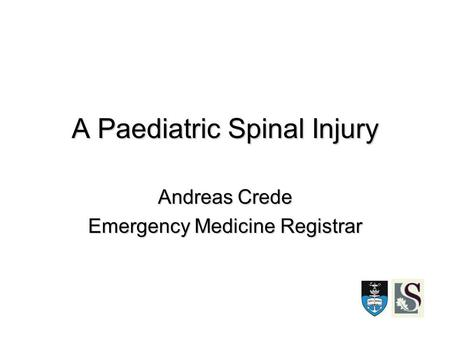 A Paediatric Spinal Injury