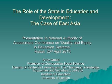 role of education for national development Alam – the role of technical and vocational education in the national development of bangladesh asia‐pacific journal of cooperative education.