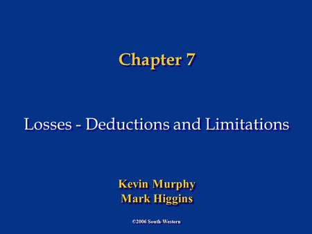 Chapter 06 Individual Deductions
