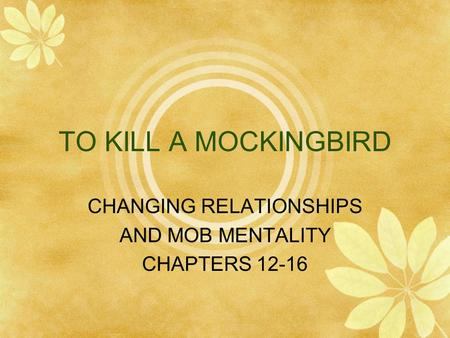 Scout & Atticus Relationship – To Kill A Mocking Bird Essay