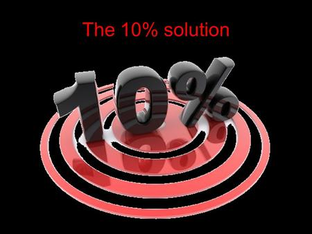 The 10% solution. From: Listen for your preacher to use a word beginning with 'A' then 'B and so on through the alphabet. Start from the back of the church.
