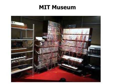 MIT Museum. Fourier What did you learn?? Perception Can pick out one frequency.