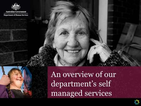 An overview of our department's self managed services