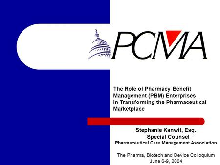 Pharmaceutical Care Management Association