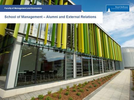 Faculty of Management and Economics School of Management – Alumni and External Relations.