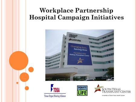 Workplace Partnership Hospital Campaign Initiatives.