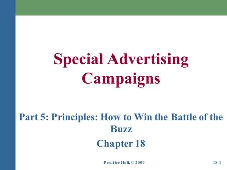 Part 5: Principles: How to Win the Battle of the Buzz
