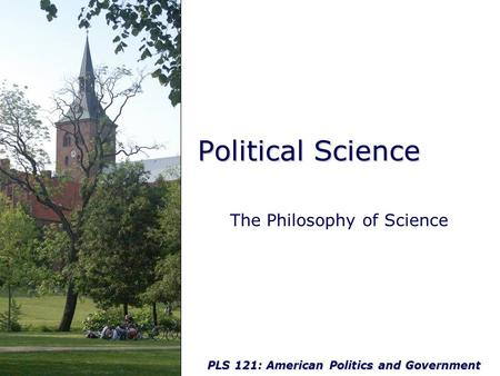 Political Philosophy: Methodology