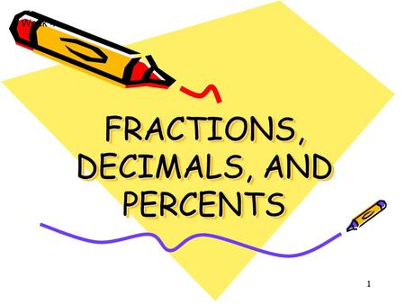 1 FRACTIONS, DECIMALS, AND PERCENTS Week 4. Helen Holt2 Session Outcomes: Be able to read, write, order and compare common fractions. To identify equivalences.