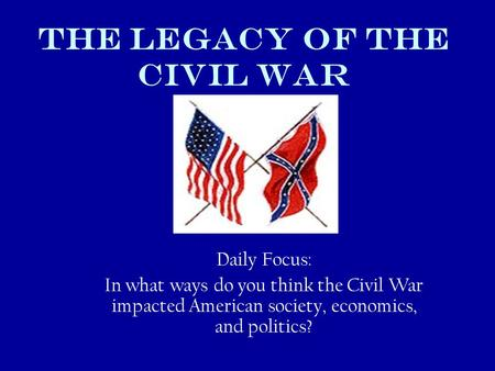 the impact of the civil war on the americans