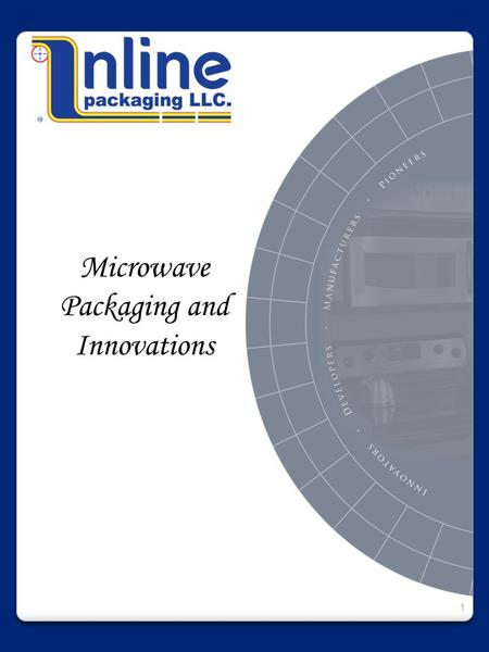 Microwave Packaging and Innovations 1. Company Overview 2 Inline Packaging develops and produces packaging designed for the microwave, including popcorn.