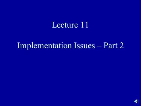 "Lecture 11 Implementation Issues – Part 2. Monte Carlo Simulation An alternative approach to valuing embedded options is simulation Underlying model ""simulates"""