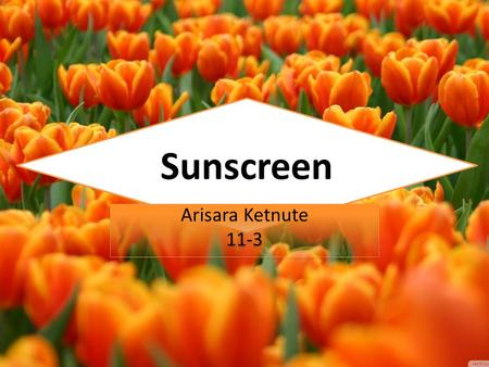 Sunscreen Arisara Ketnute 11-3 Arisara Ketnute 11-3.