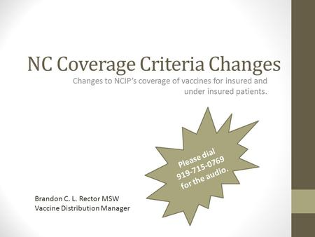 NC Coverage Criteria Changes