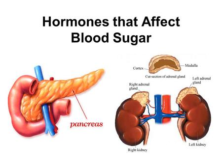 Hormones that Affect Blood Sugar. Pancreatic Hormones Produced in the islets of Langerhans. –Beta (β) cells produce insulin. –Alpha (α) cells produce.