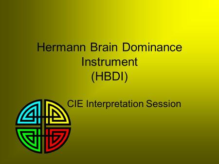 Hermann Brain Dominance Instrument (HBDI)