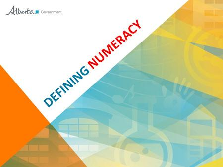 DEFINING NUMERACY. MINISTERIAL ORDER (#001/2013) 2.3 All students will employ literacy and numeracy to construct and communicate meaning. ® DIGIPICT.