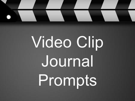 Video Clip Journal Prompts. Click on the image to see the video.  What lesson can we learn from Jason McElwain's.