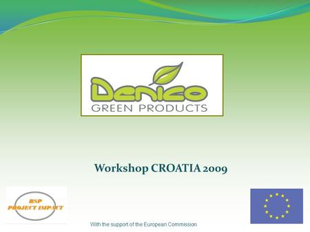 Workshop CROATIA 2009 With the support of the European Commission.