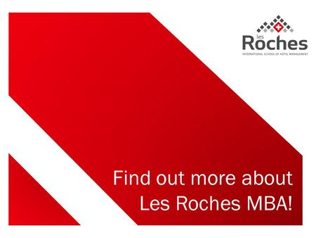 Find out more about Les Roches MBA!. Today's guest speaker ANDY PINO From Peru MBA student.