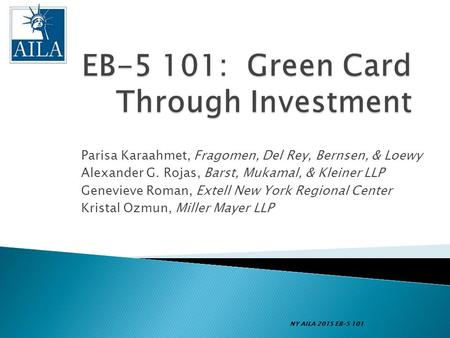 EB-5 101: Green Card Through Investment