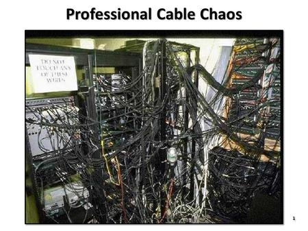 1 1 Professional Cable Chaos. 2 2 Home Cable Chaos.