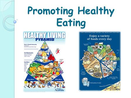 Promoting Healthy Eating. Dietary guidelines across the lifespan During the 1930s, and 1940s monitoring the health of the population became a priority.