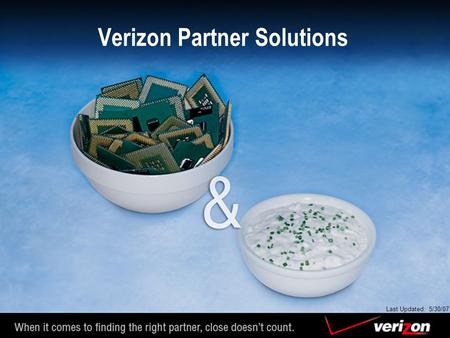 Verizon Partner Solutions Last Updated: 5/30/07. Executive Summary Verizon is positioned as a leading provider of advanced global communications solutions.