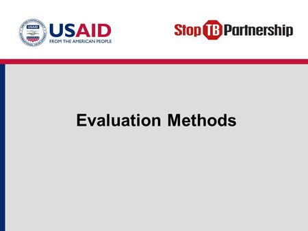 Evaluation Methods.