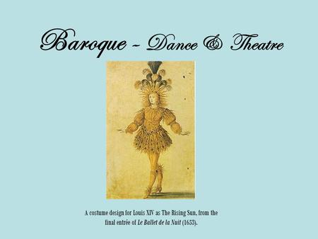 Baroque - Dance & Theatre