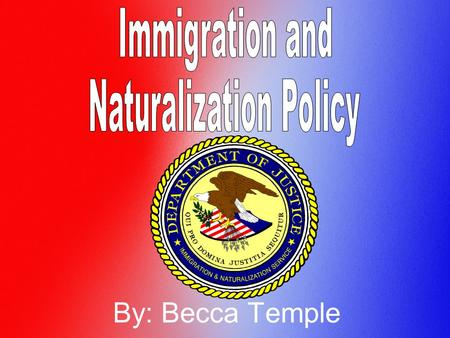 By: Becca Temple. Immigration and Naturalization Policy In the time period of 1868-1911, people wanted to become United States Citizens. They wanted better.