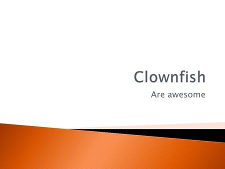 Are awesome.  The clownfish is a type of fish that lives in salt water habitats. It is also called an Anemonefish  Clownfish are typically very bright,