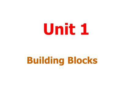 Unit 1 Building Blocks Menu To work through a topic click on the title. Substances Chemical Reactions Bonding Acids and Alkalis End.