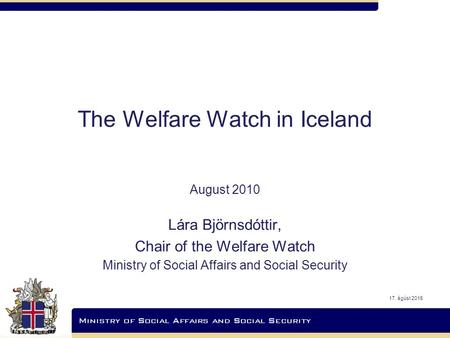 The Welfare Watch in Iceland