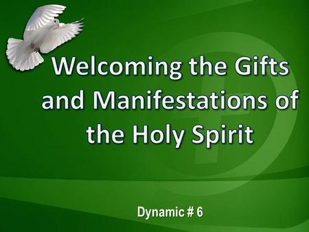 Dynamic # 6. The gifts and manifestations of the Holy Spirit  Are normal and essential expressions of the Holy Spirit's power and presence  Are like.