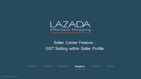 Seller Center Feature : GST Setting within Seller Profile