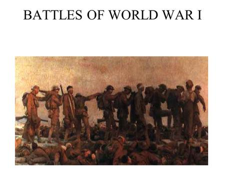 an overview of the battles of world war one from 1914 This was a key event in sparking the great war of 1914–18 first world war - overview page 1 the landing at anzac and the end of the battle of the.