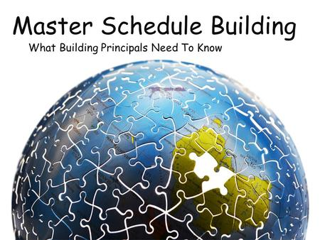 Master Schedule Building What Building Principals Need To Know.