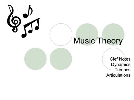 Music Theory Clef Notes Dynamics Tempos Articulations.