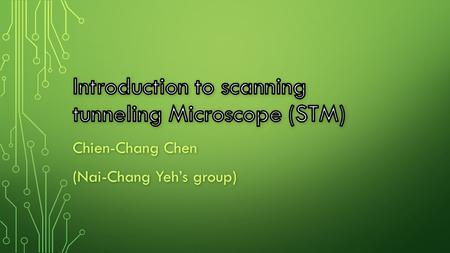 Chien-Chang Chen (Nai-Chang Yeh's group). IMAGE FROM AN STM Iron atoms on the surface of Cu(111) Image from an STM.