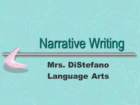 narrative writing powerpoint presentation
