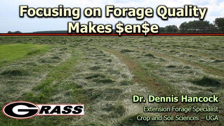 Bermudagrass Pasture – 2011 Breakdown of Projected Costs per Acre $243.59/acre.