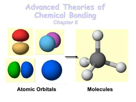 Advanced Theories of Chemical Bonding Chapter 8 Atomic Orbitals Molecules.