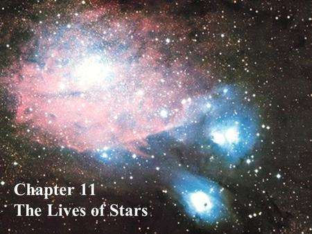 Chapter 11 The Lives of Stars. What do you think? Where do stars come from? Do stars with greater or lesser mass last longer?