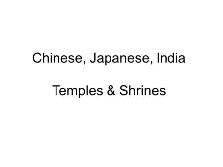 Chinese, Japanese, India Temples & Shrines. Famen Temple, China.