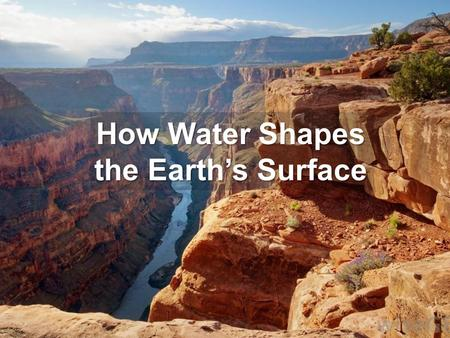 How Water Shapes the Earth's Surface