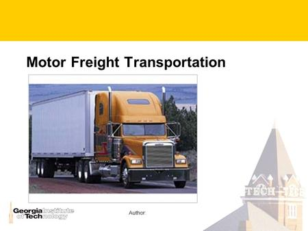 Motor Freight Transportation Author:. U.S. Mode Shares, 1993.